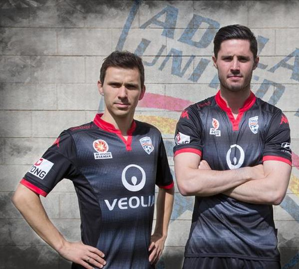 New Adelaide United Kits 2015/16- Kappa Adelaide United FC Jerseys 2015-2016 Home Away Third