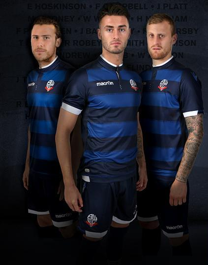 New Bolton Burnden Disaster Shirt 2015-2016- Macron BWFC 3rd Jersey 15-16