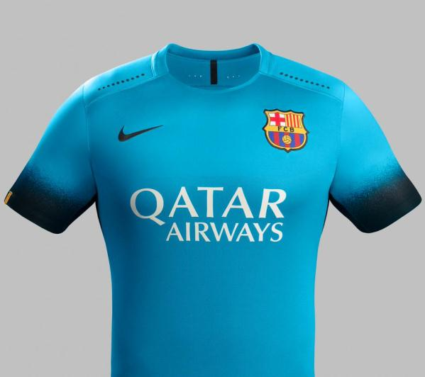 New Barcelona Champions League Jersey 15-16- Blue Barca Shirt 2015-16 Third
