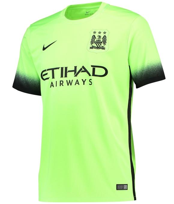Green Manchester City Jersey 2015 2016