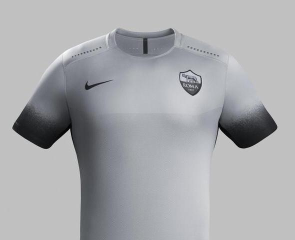 Grey Roma Shirt 2015-2016- Roma Third Champions League Jersey 15-16