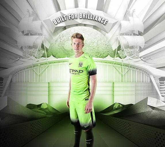 Green Man City Shirt 15-16 Nike MCFC Third Kit 2015-16