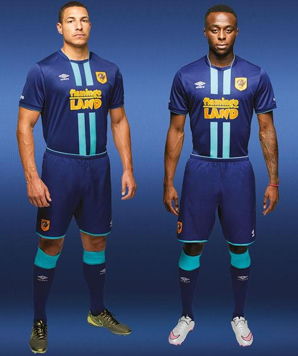Blue Hull City Shirt 2015-2016- Umbro HCAFC Third Kit 15-16