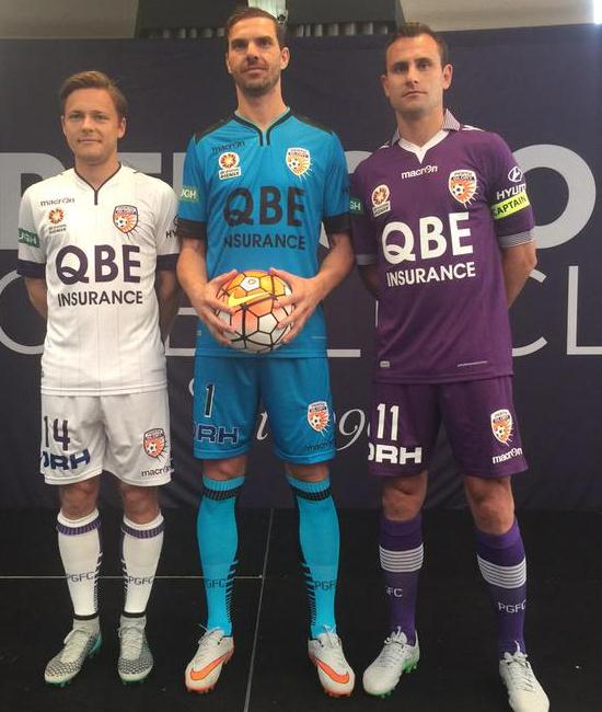 New Perth Glory A-League Kits 2015-2016- Macron Perth Glory Home Away Jerseys 2015-16