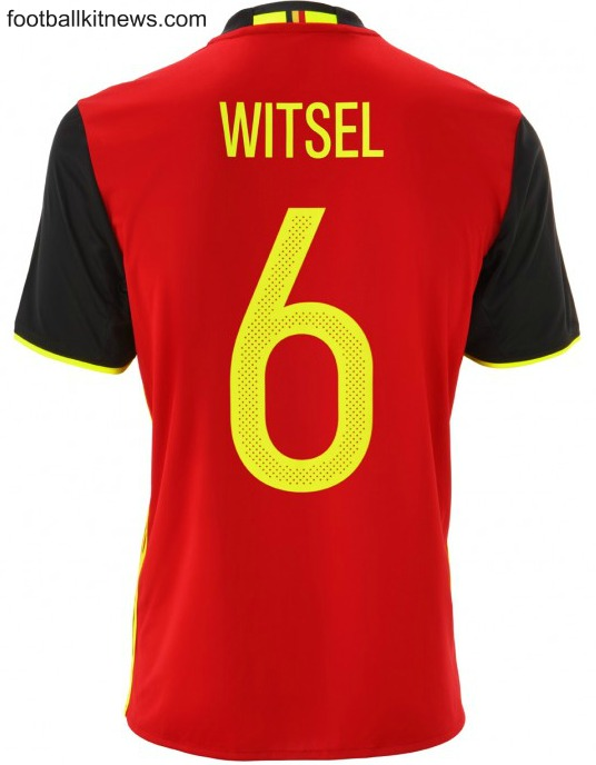 Belgium Euro 2016 Kit Number