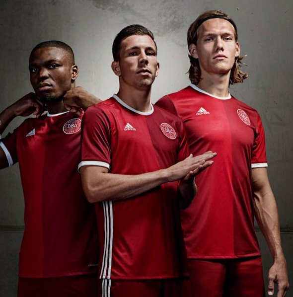 New Denmark Euro 2016 Jersey- Adidas Danish 2016 Home Shirt