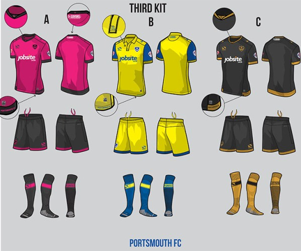 New Portsmouth 2016-17 Kit Vote- Home, Away & Third Shirts