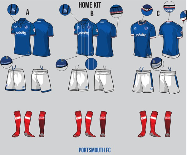 Football Kit Vote 16-17 Portsmouth