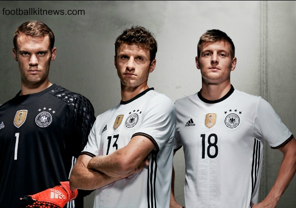 Official- New Germany Euro 2016 Jersey- German Home Kit 2016-17
