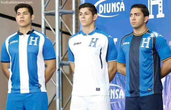 New Honduras Jersey 2016- Joma Honduras Kits 2016-17 Home Away Third World Cup Qualifying