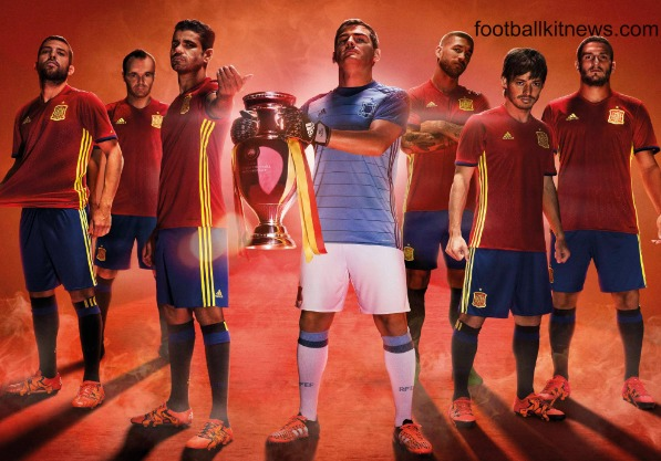 New Spain Euro 2016 Jersey- Adidas Spanish 2016-17 Home Kit