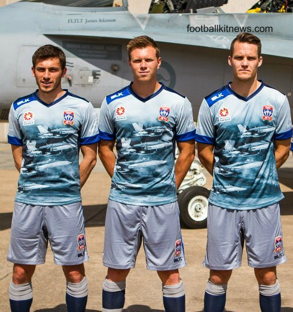 Newcastle Jets RAAF Jersey 2015- New Jets Airforce Kit vs Brisbane Roar
