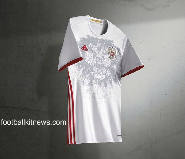 New Russia Away Jersey Euro 2016- Adidas White Russian Alternate Kit 2016-2017