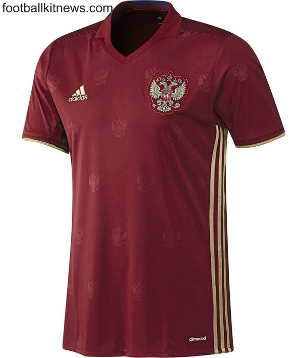 New Russia Kit Euro 2016- Russian Home Shirt 16-17 by Adidas