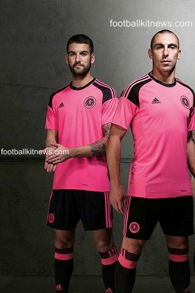 Scotland Away Kit 2016 17 Pink