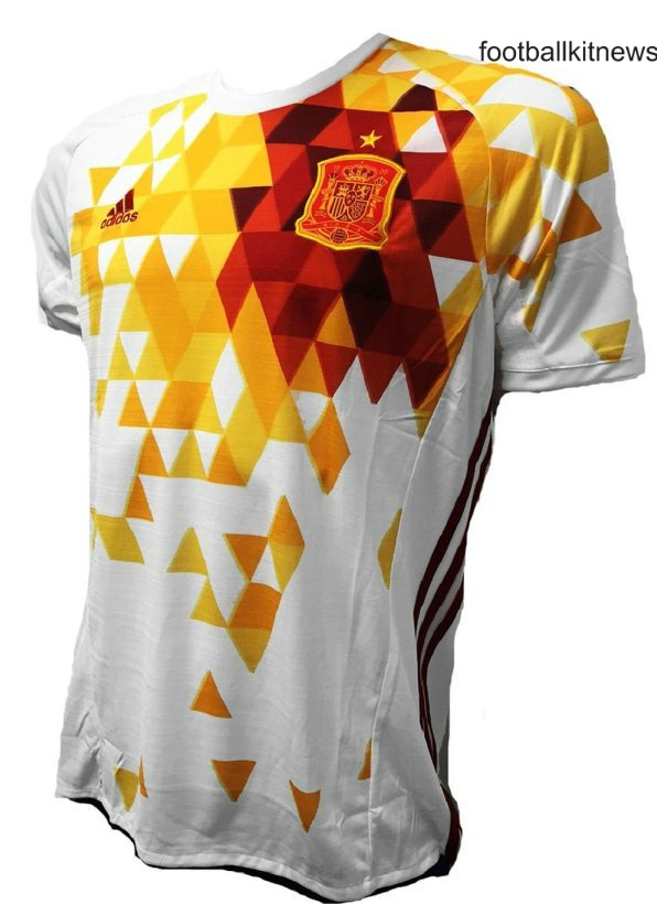 New Spain Away Top Euro 2016 | White Spanish Kit 2016-17 Adidas