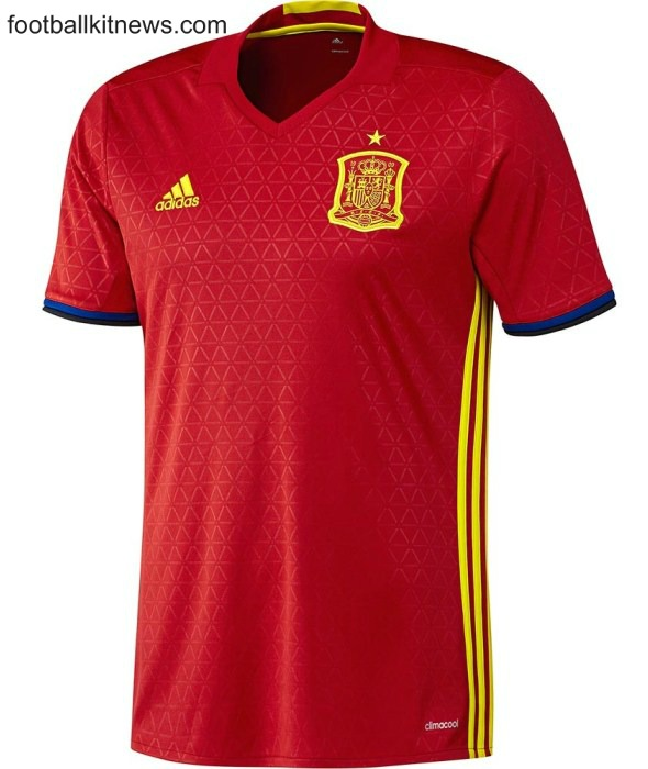 Spain Euro 2016 Jersey