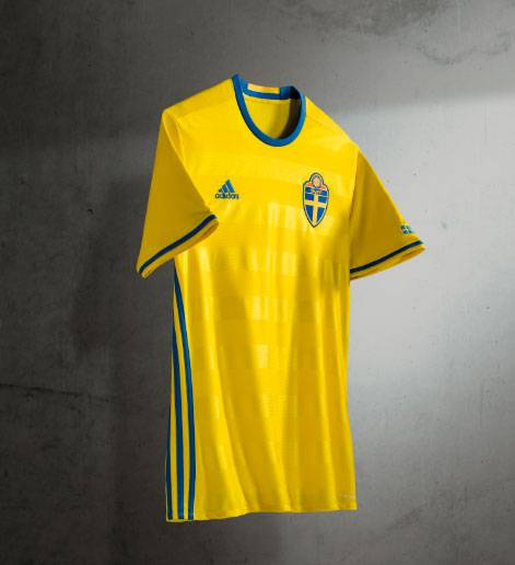 New Sweden 2016 Jersey- Adidas Swedish Euro 2016 Kit Home