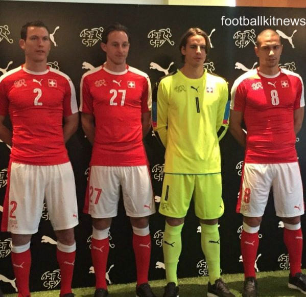 New Switzerland Jersey Euro 2016- Puma Swiss Home Kit 2016-17