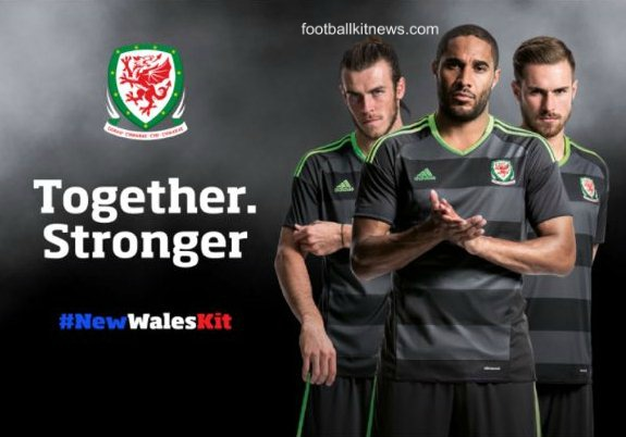 Grey Wales Away Football Shirt Euro 2016- Adidas Wales Alternate Kit 16-17