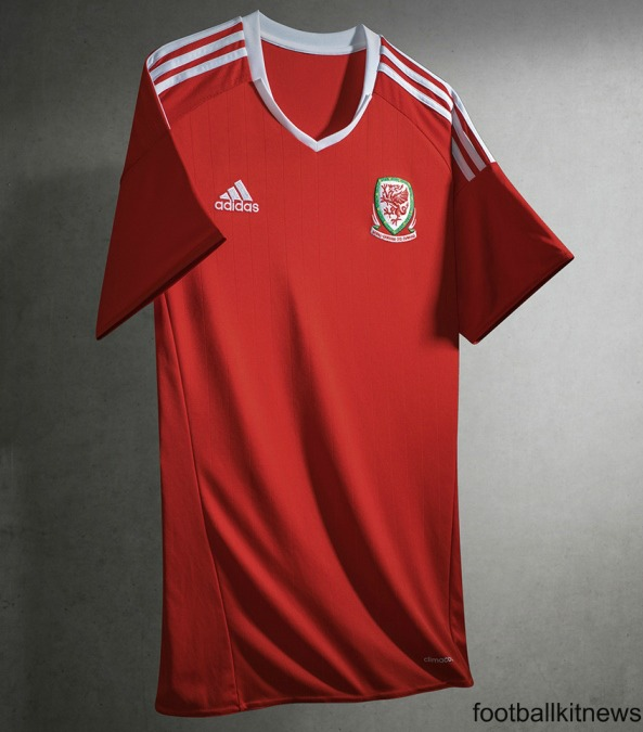 New Wales Jersey Euro 2016- Adidas Welsh Home Kit 2016-17