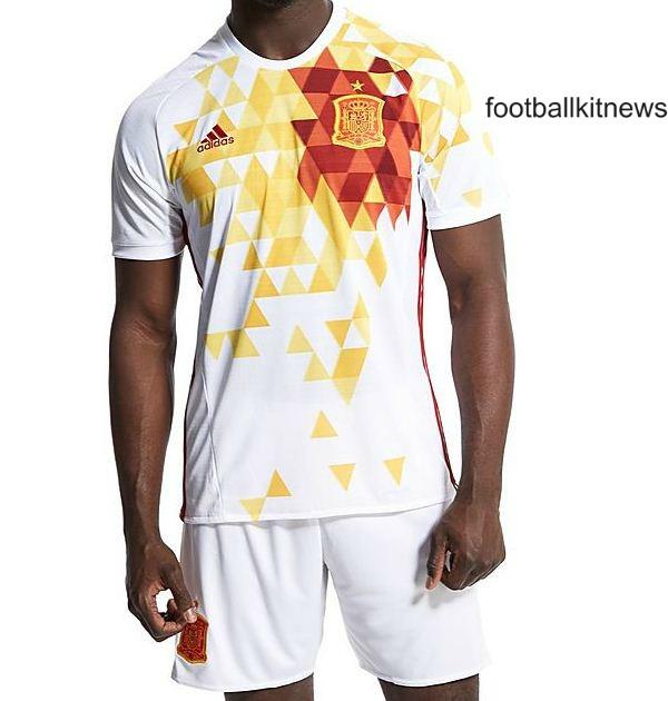 White Spain Kit Euro 2016
