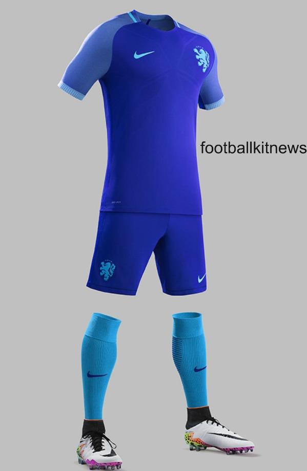 Blue Netherlands Away Kit 2016 2017