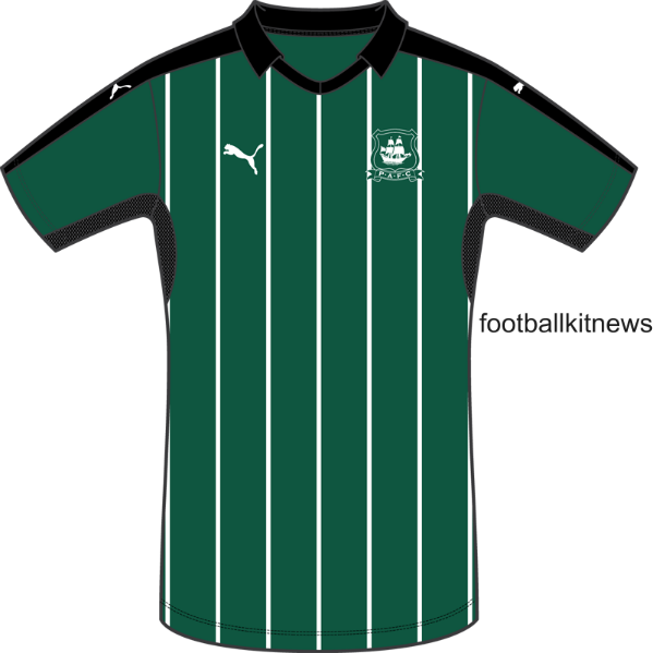New Plymouth Argyle Kit 2016-17 Puma PAFC Home Shirt 16-17