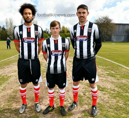 Grimsby Town Home Shirt 2016 2017