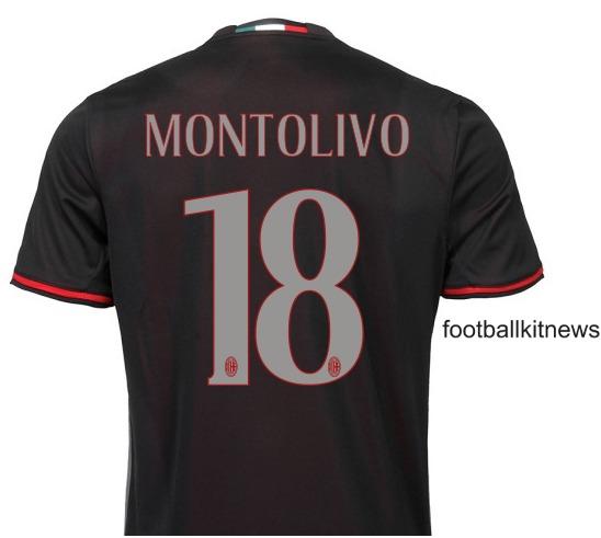 AC Milan Home Top 2016 2017 Back