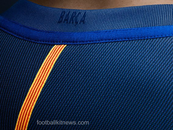 Barca Home Shirt 16 17 Back