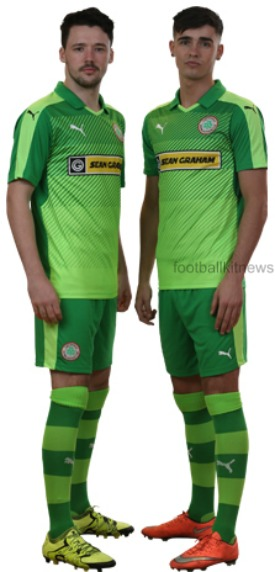 Cliftonville Away Kit 2016 17