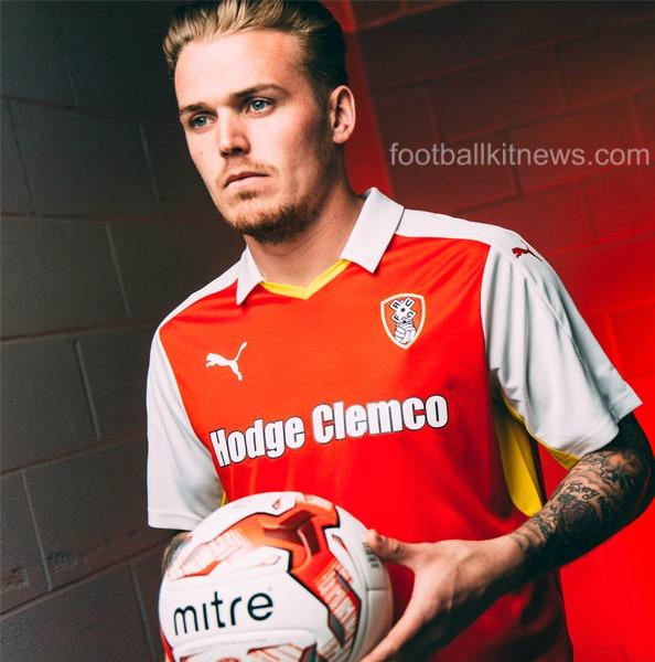 Hodge Clemco Sponsor Rotherham United Shirt 2016 17