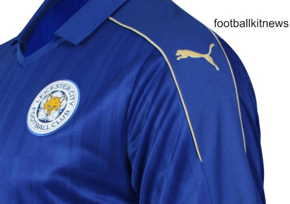 LCFC Home Shirt 16 17 Closeup