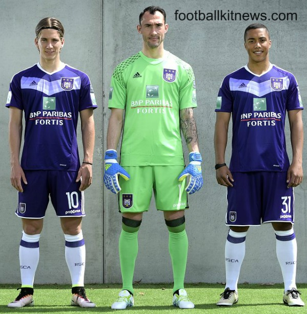 New Anderlecht Kit 2016-17 | Adidas RSCA Home Shirt 2016-2017