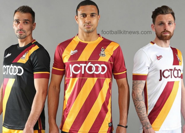 New Bradford City Kit 2016 17