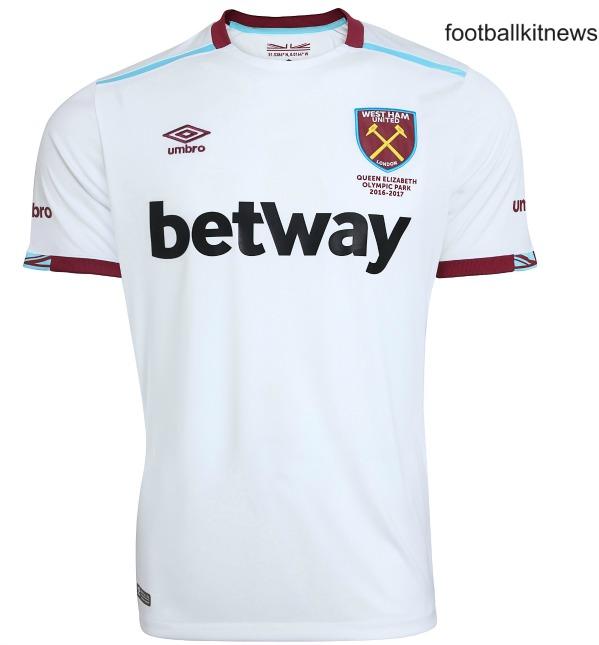 West Ham Away Shirt 2016 2017