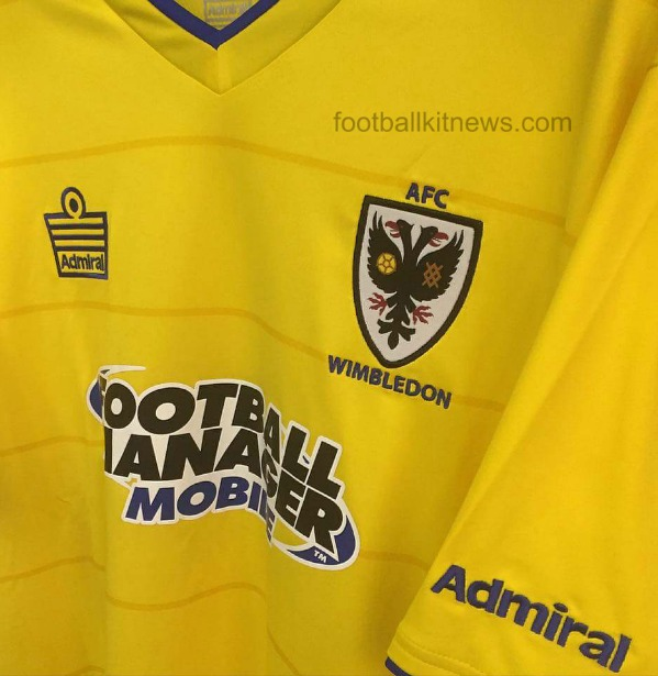 AFC Wimbledon Away Shirt Closeup