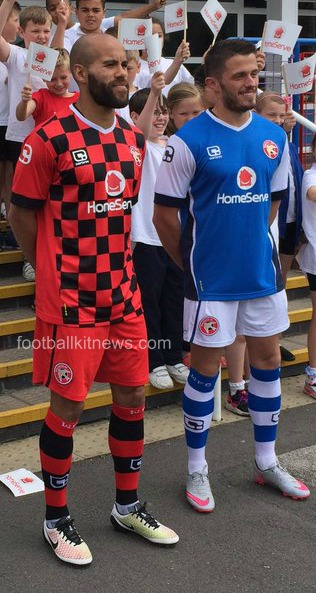 Walsall FC Checkers Shirt 2016 2017