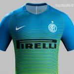 New Inter Milan Third Kit 16/17- Blue & Green Inter 3rd Shirt 2016/2017