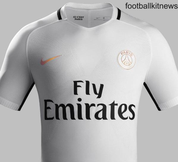 white psg third kit 16 17 paris saint germain nike 3rd jersey 2016 2017 football kit news. Black Bedroom Furniture Sets. Home Design Ideas