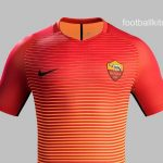 New Roma Third Kit 2016/17- Red & Orange Roma Jersey 2016-2017