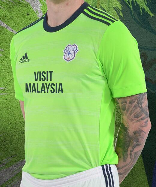 Lime Green Cardiff City Shirt 17 18