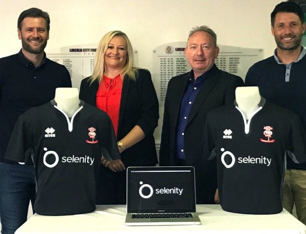 Selenity Lincoln City Shirt Sponsor