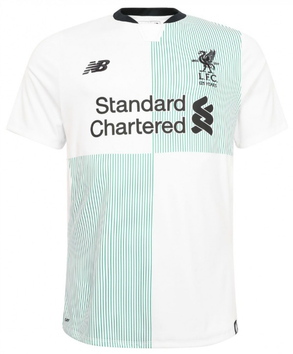 White and Green Liverpool Shirt 2017 2018