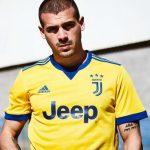 Yellow Juventus Away Strip 2017-2018 by Adidas