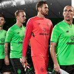 "Green Celtic Third Top 17-18   New Balance unveil ""Vivid Cactus"" Euro Strip"