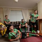 Glentoran launch new Kappa home kit with visit to George Best's childhood home