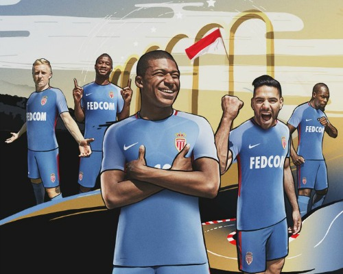 New Monaco Away Shirt 2017 18