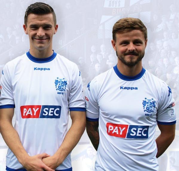 Paysec Bury FC Shirt Sponsor 17 18